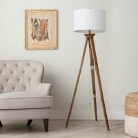 Wooden floor lamps for a mid-century modern home design