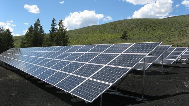 Solar panel green sustainable energy