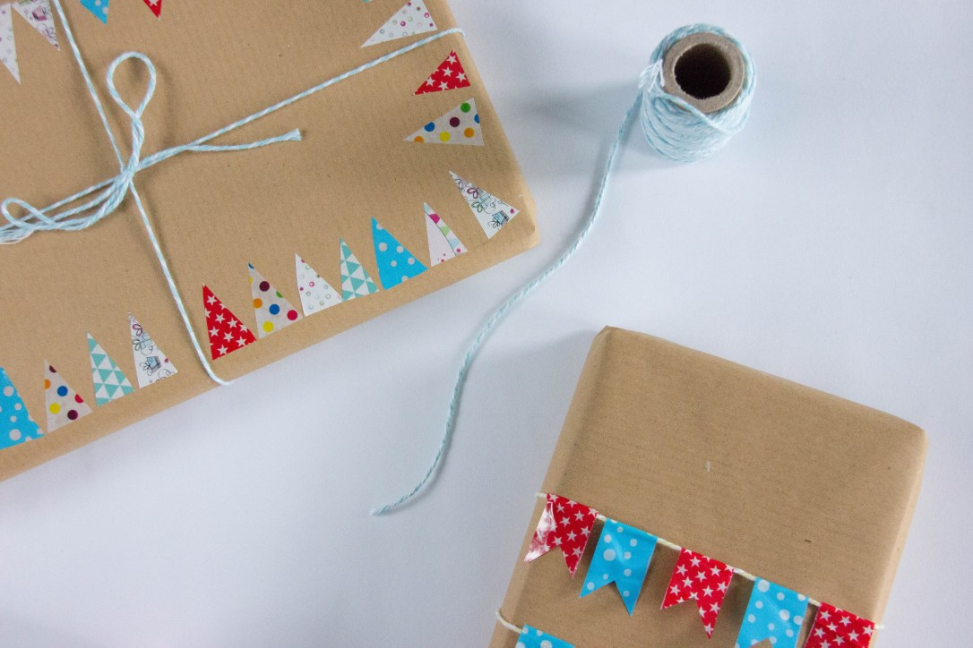 DIY gift wrap craft paper twine