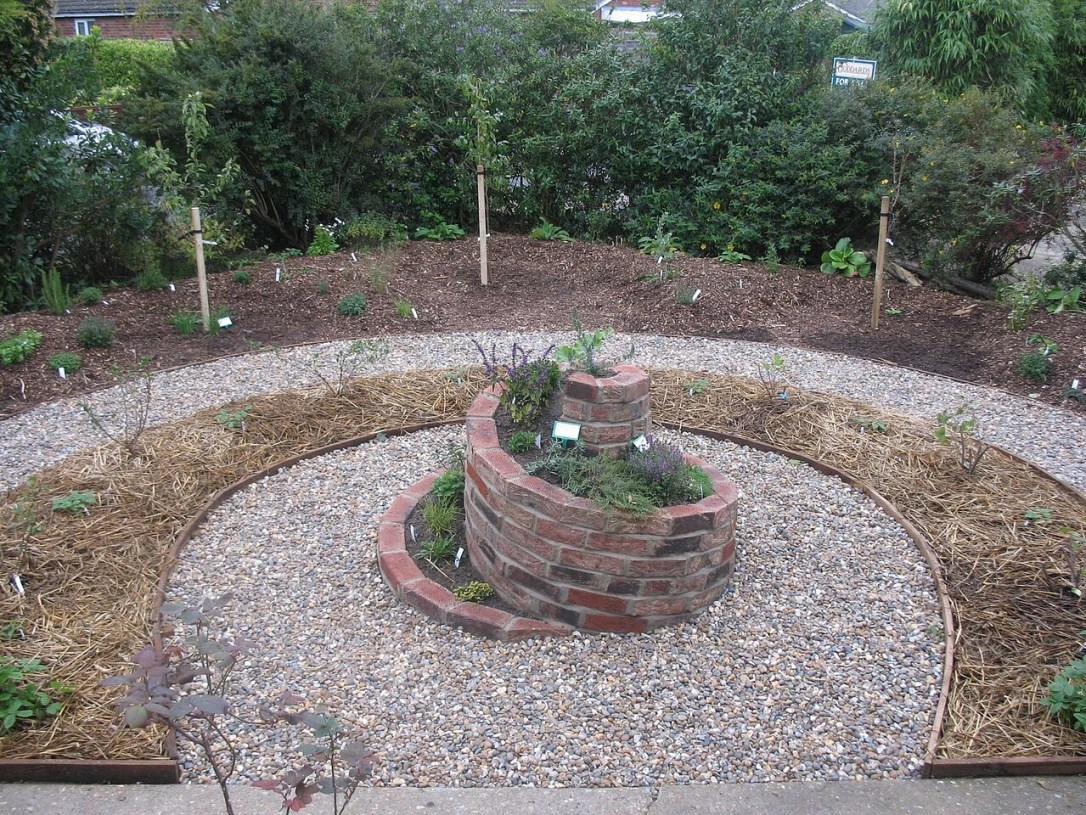 Permaculture herb spiral garden design