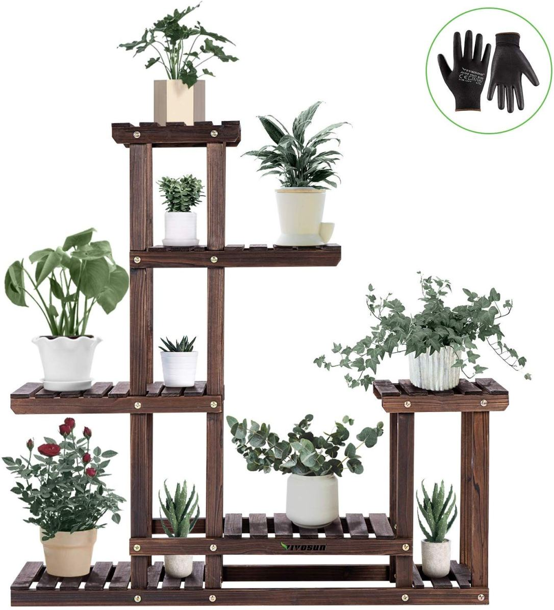 Contemporary Wooden Plant Stand