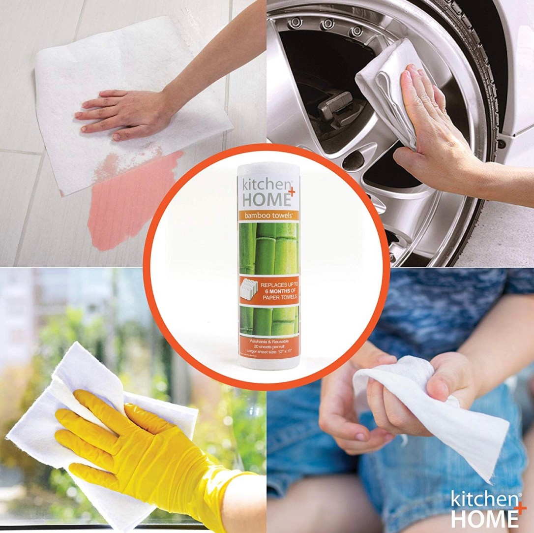 Bamboo eco friendly reusable paper towels
