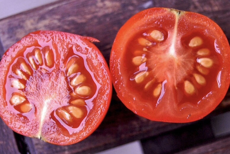 Tomato Seeds in Fruit