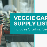 Veggie Garden Supply List (includes starting seeds indoors)