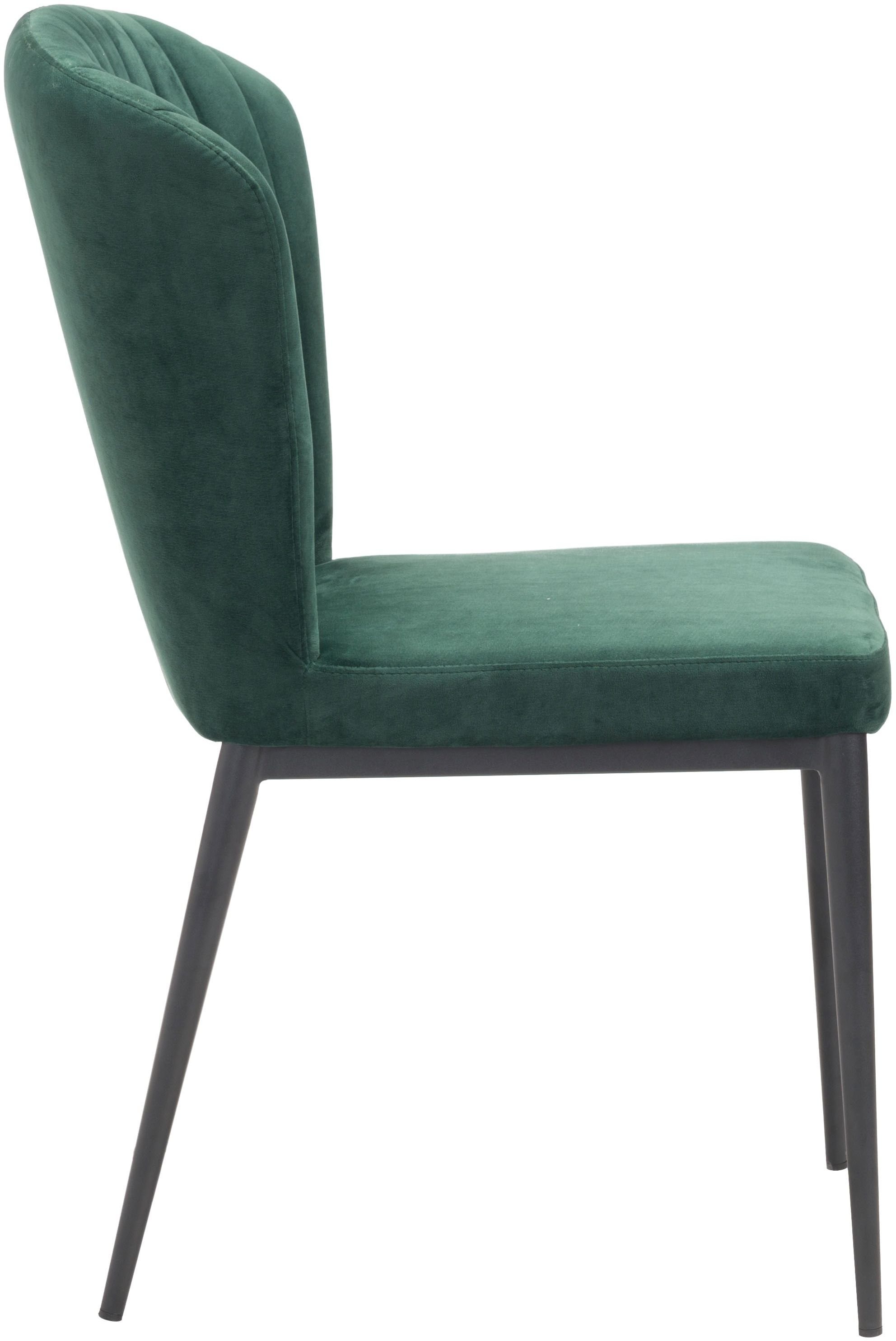 Dining Chair Set Of 2 Tolivere Dining Chair Set Of 2 Green Velvet