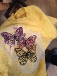 Finished Machine embroidered sweater