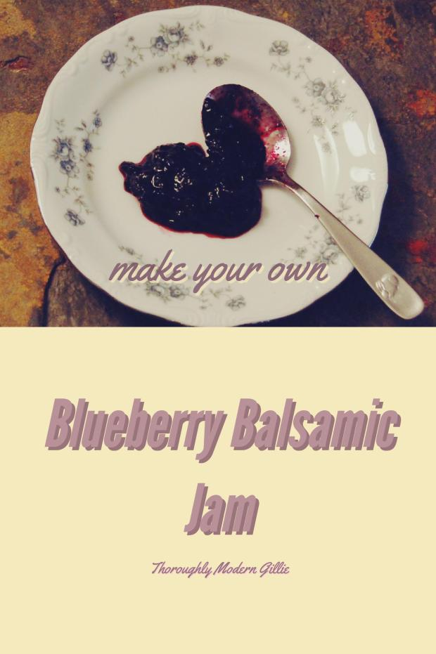 Blueberry Balsamic Jam, Easy Blueberry Jam, Homemade Blueberry Jam, Blueberry Preserves, www.moderngillie.com #Jam, #Blueberries #Homemadejam #easyjam #blueberryjam