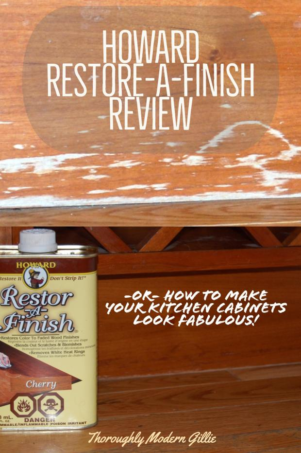 Howard restore a finish review, www.moderngillie.com give your woodwork a facelift #restoreafinish #restorefurniture #furniturerefinish
