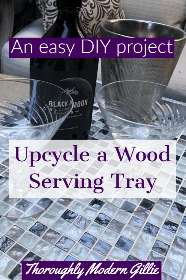 upcycle a wood tray, www.moderngilie.com #upcycle #tile #grout #tray #easyDIY