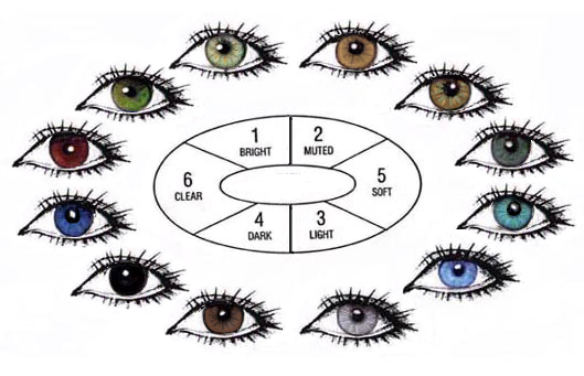 Human Eye-color chart