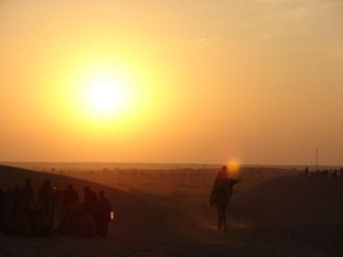 Riding Into the Sunset, Jaisalmer