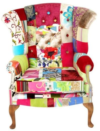 Patchwork reading chair