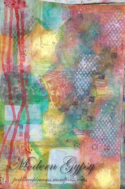 art_journal_layering_technique_stamps_stencils_drips