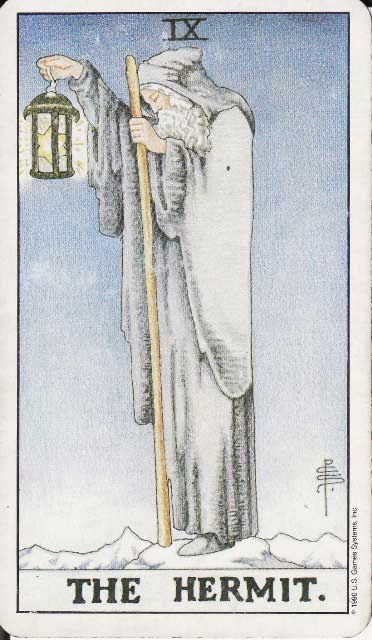 The Hermit tarot card: I'm becoming a hermit
