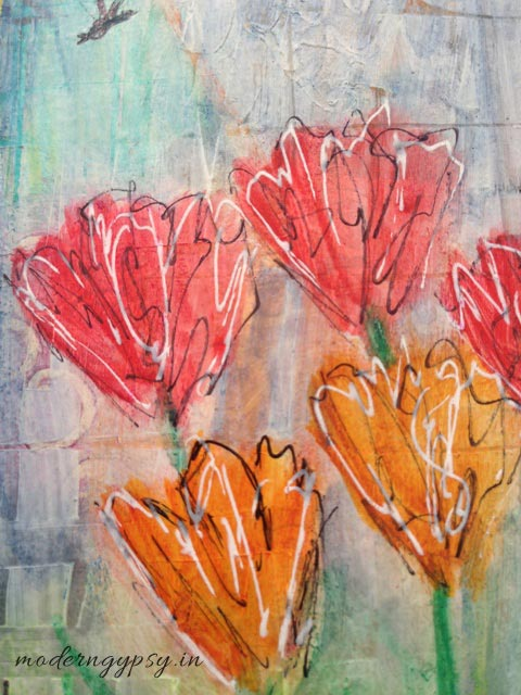 Adding layers in art journals