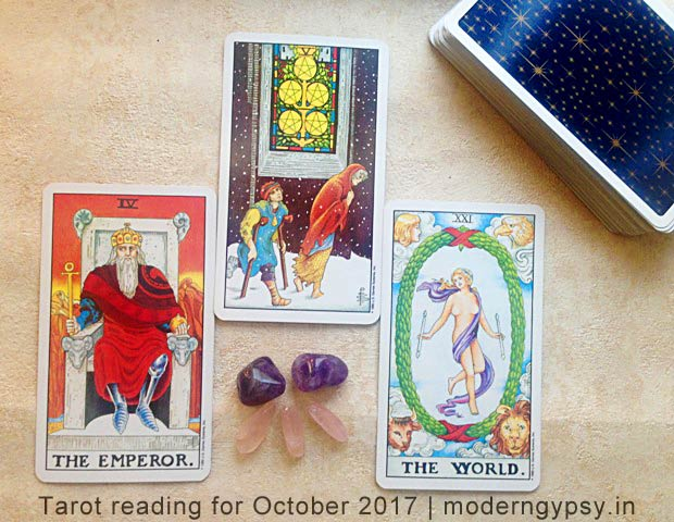 Monthly Tarot forecast for October 2017
