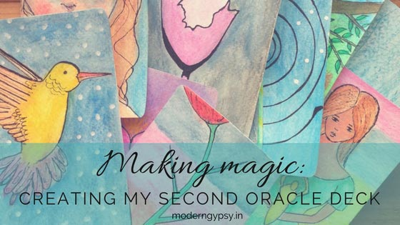 how to make an oracle or tarot card deck