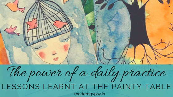 The power of a daily practice: lessons learnt at the painty table