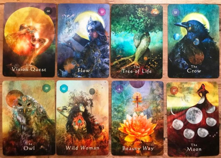 Mystical Shaman Oracle cards by by Alberto Villoldo and Colette Baron Reid unboxing + review