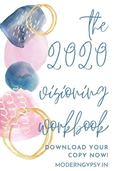 Find your word of the year and set some intentions for 2020 with the visioning workbook