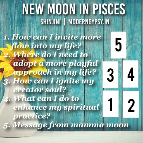 Tarot spread for the new moon in Pisces