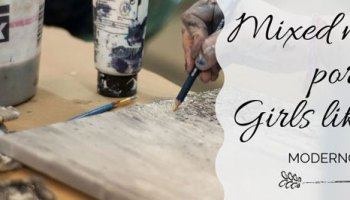 how to paint a mixed media portrait in your art journal