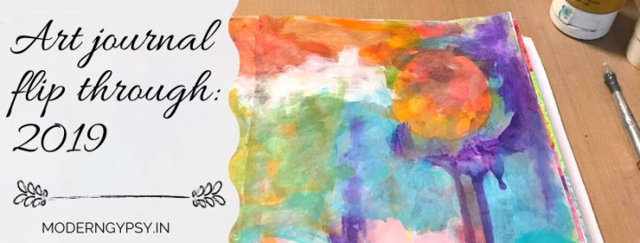 Art journal flip through to inspire your creativity