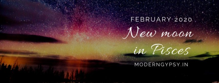 Tarot spread for the February 2020 new moon in Pisces