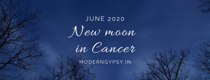Tarot spread for the June 2020 new moon in Cancer