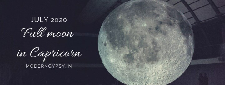 Tarot spread for the July 2020 full moon in Capricorn
