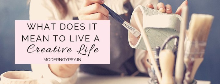 What does it mean to live a creative life. Woman painting a cup