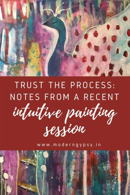 Get a behind-the-scenes look at the evolution of my recent intuitive painting; plus some thoughts on the intuitive painting process and moving past fear.