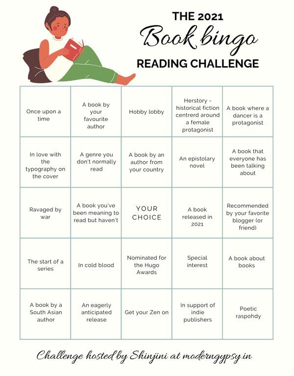 2021 book bingo challenge prompts
