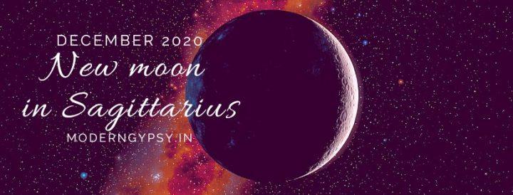 Tarot spread for the December 2020 new moon in Sagittarius