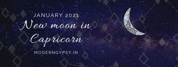 Tarot spread for the January 2021 new moon in Capricorn