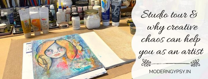 Home art studio tour + why artists and creatives thrive in a messy environment