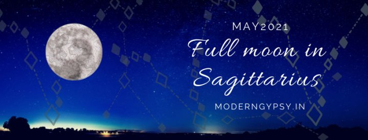 Tarot spread for the May 2021 full moon in Sagittarius