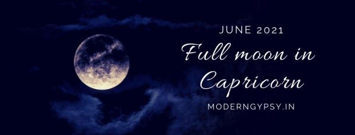 Tarot spread for the June 2021 full moon in Capricorn