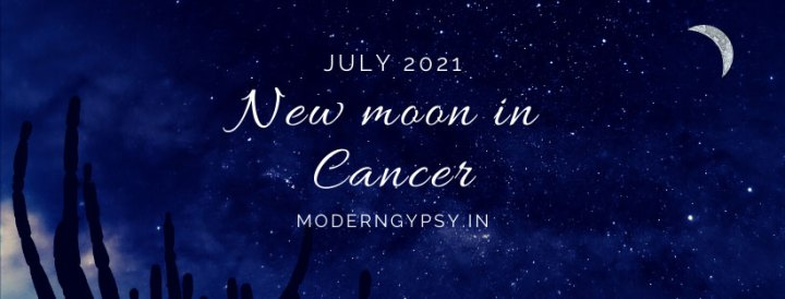 Tarot spread for the July 2021 new moon in Cancer