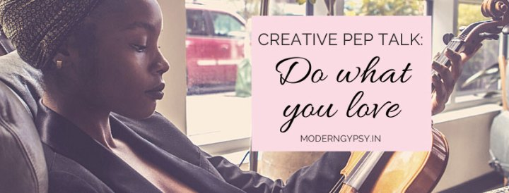 Art with Soul podcast: Creative pep talk - do what you love. Image of a woman holding a guitar