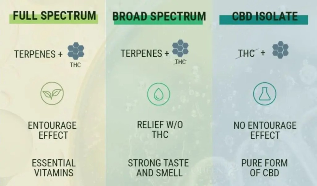 full spectrum cbd vs broad spectrum cbd vs cbd isoluate