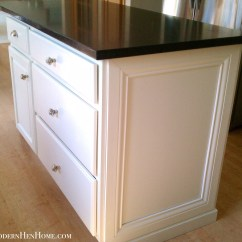 Decorative Molding Kitchen Cabinets Grills Before And After Painting A Island On Budget