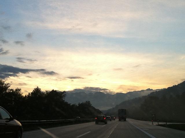 on the road - bayern, österreich, schweiz