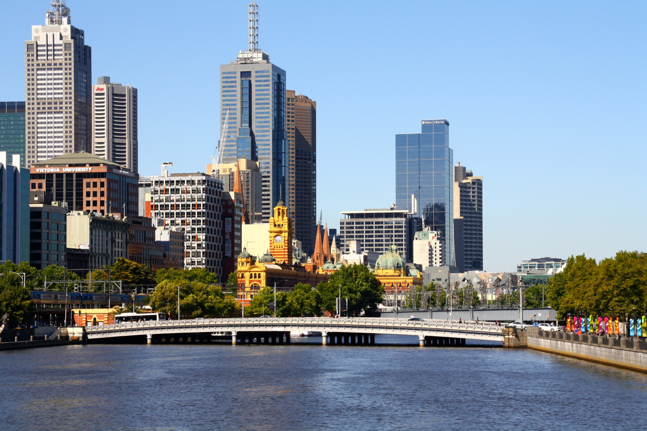 Melbourne Skyline am Yarra River