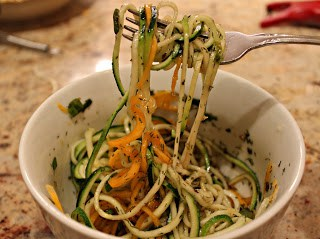 Meatless Monday: Butternut Squash and Zucchini Pasta with Dilled Vodka Vinaigrette