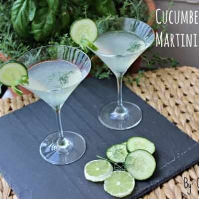 Summer Drink Series: Cucumber-Lime Martini with Dill