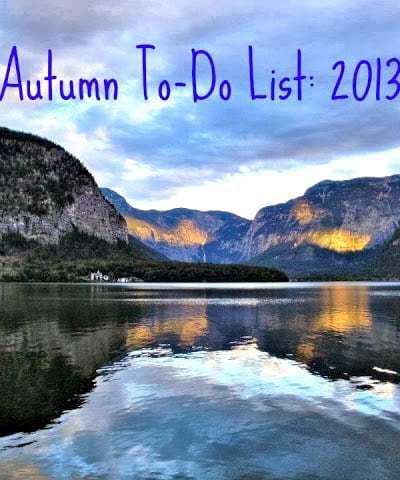 Autumn To Do List