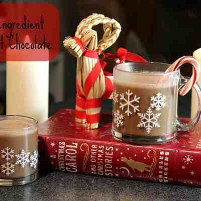 Three Ingredient Vegan Hot Chocolate