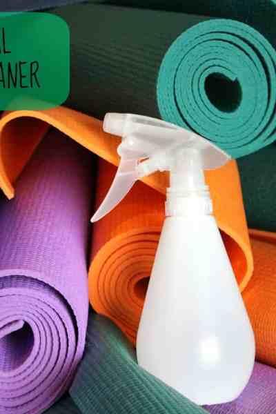 DIY All Natural Yoga Mat Cleaner