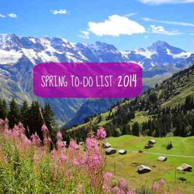 Spring To-Do List: 2014